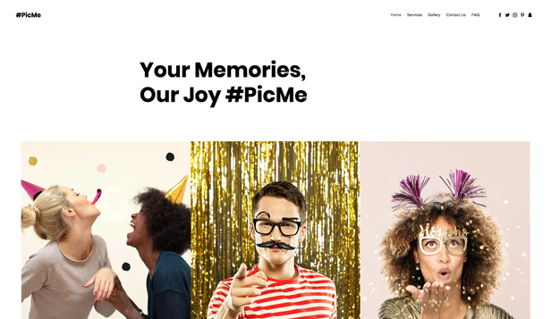 Akce website templates – Foto budka