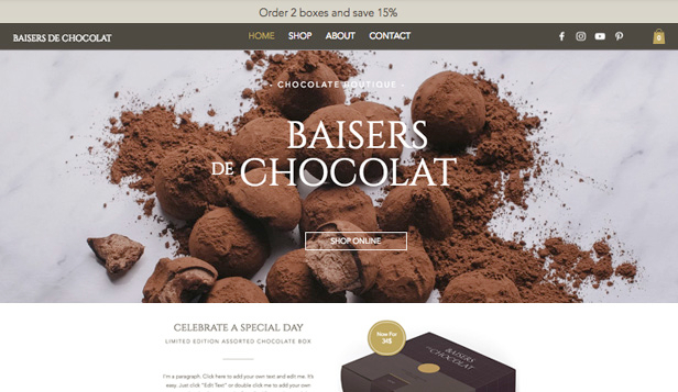 Essen & Trinken website templates – Chocolaterie