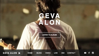 Music website templates - Folk Singer Songwriter