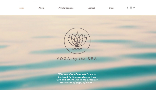 Sport og trening website templates – Yogastudio