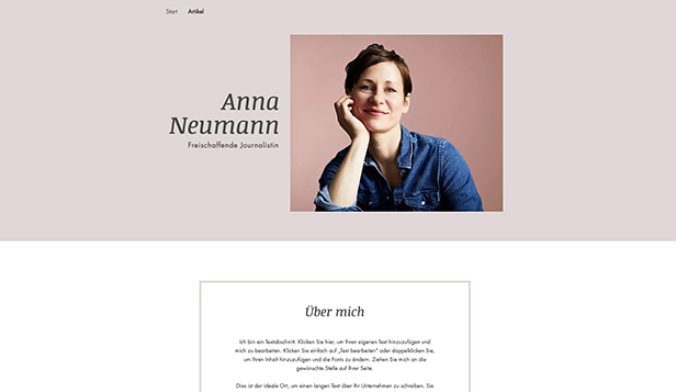 Literatur website templates – Journalist - Lebenslauf