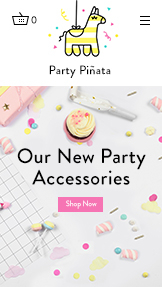 Arts & Crafts website templates – Party Accessories Store