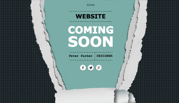 Landing Page template – Pagina per Coming soon