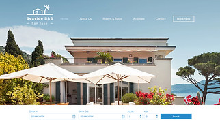 Travel & Tourism website templates - Beach Side B&B