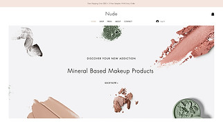 Beauty & Wellness website templates - Makeup Store