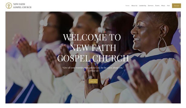 Religion website templates – Evangeliumskirche