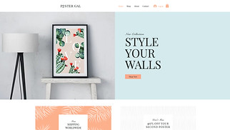 Visual Arts website templates - Poster Shop