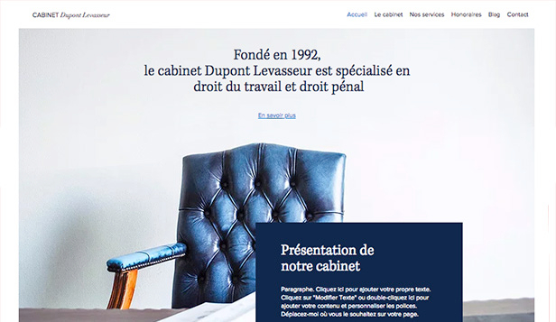 Droit et Finance website templates – Pratique du droit