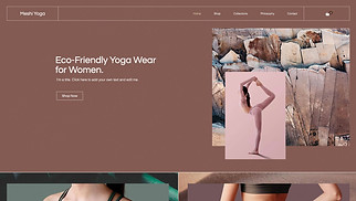 Fashion & Clothing website templates - Yoga Store
