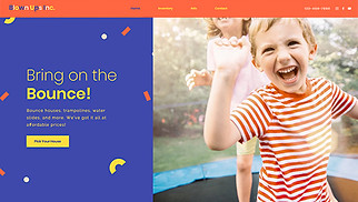 Events website templates - Bounce House Rental