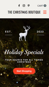 Home & Decor website templates – Christmas Boutique