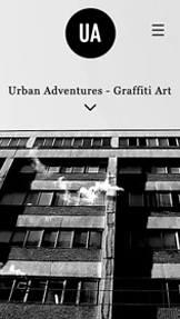 Personligt website templates – Graffiti-konstnär
