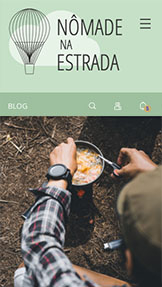 Blog website templates – Blog e Podcast sobre Viagens