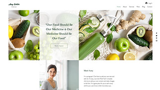 Health & Wellness website templates - Dietitian