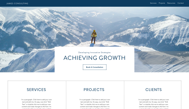Bedrijven website templates – Business Consulting Company