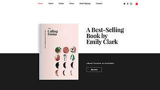 Books & Publishers website templates - Writer
