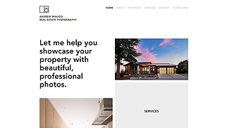 Photography website templates - Real Estate Photography