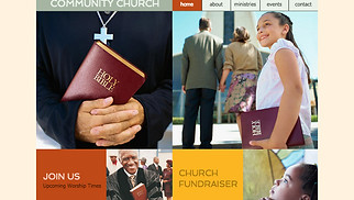 Religion website templates - Community Church