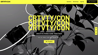 Events website templates - Creative Conference
