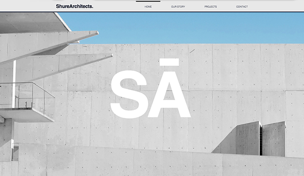 Portfolia website templates – Architektura firma
