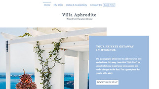 Travel & Tourism website templates - Tropical Villa Rental