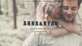 Events website templates - Wedding Invitation