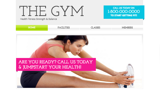 Spor ve Fitness website templates – Spor Salonu