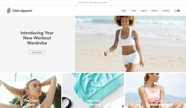 Moda ve Stil website templates – Atletik Giyim