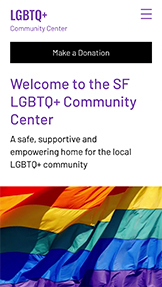 Sin fines de lucro (ONG) plantillas web – LGBTQ Community Center