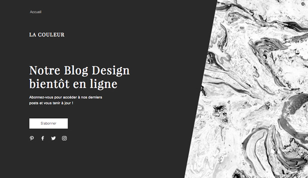 Templates de site web pour En construction - Blog à venir