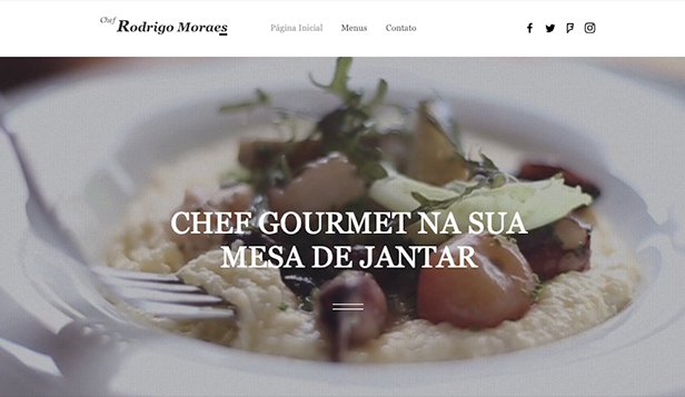 Restaurante website templates – Chef privado