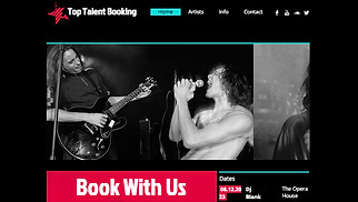 Music website templates - Music Booking Agency