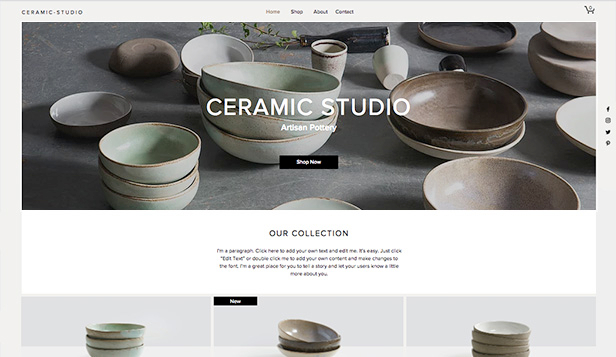 Kreativ kunst website templates – Keramikkstudio