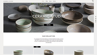 Arts & Crafts website templates - Ceramic Studio