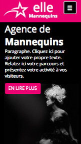 Mode website templates – Agence de Mannequins