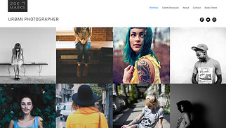 Photography website templates - Urban Photography