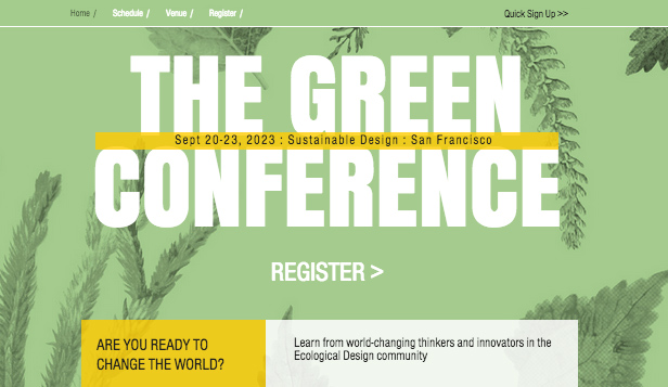 Conferenties en bijeenkomsten website templates – Ecodesignconferentie