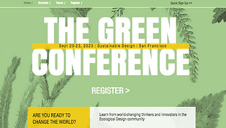 Events website templates - Eco Design Conference