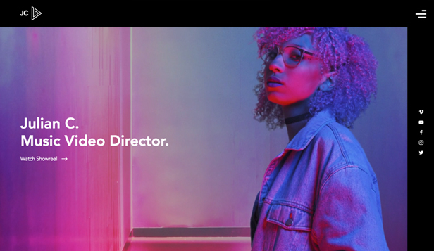 TV&映画 website templates – Music Video Director