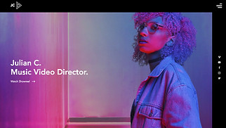 Music Industry website templates - Music Video Director