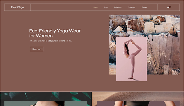 Sport en outdoor website templates – Eco-yogakleding