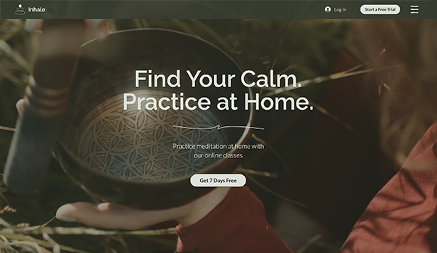 NEW! website templates – Mindfulness & Meditation Virtual Studio