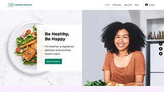 All website templates - Registered Dietitian