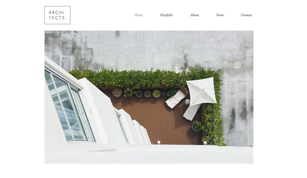 Arkitektur website templates – Boligarkitekt