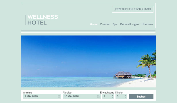 Reisen & Tourismus website templates –  Spa-Resort