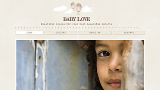 Photography website templates - Baby Photography