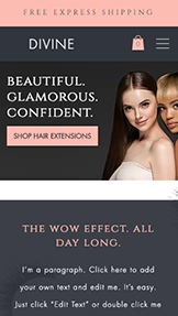 Webshop website templates – Hairextensions en wimperwinkel