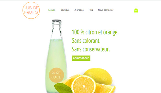 Templates de site web pour Alimentation et Boissons -  Jus de Fruits