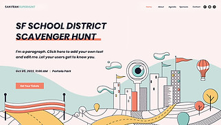 Non-Profit website templates - Charity Scavenger Hunt