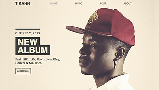 DJ & Producer website templates - Hiphop Artist